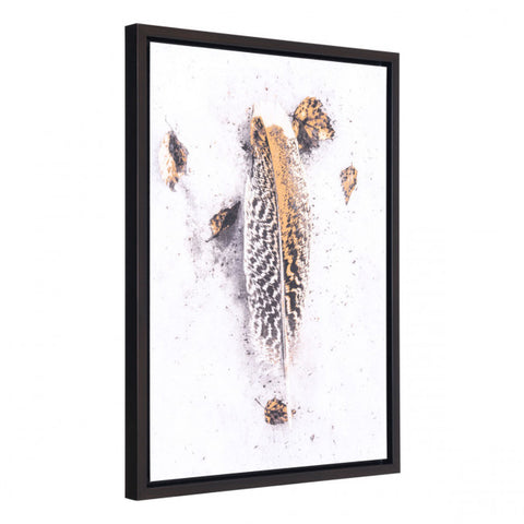Feathered Plume & Autumn Leaves Wall Art