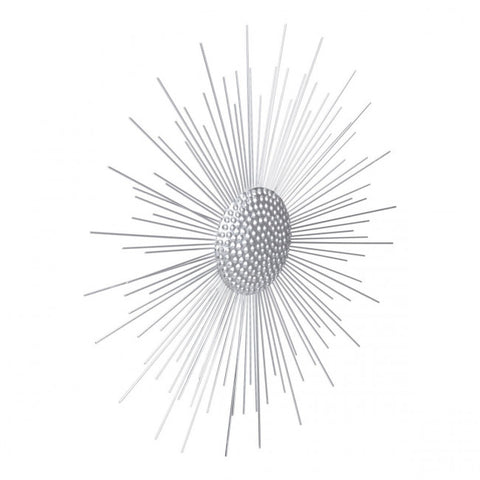 Eye-Catching Steel Silver Star Wall Art