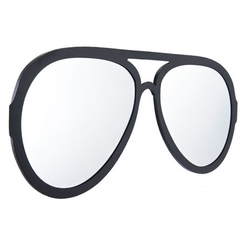 Black-Framed Mirror Shaped Like Sunglasses