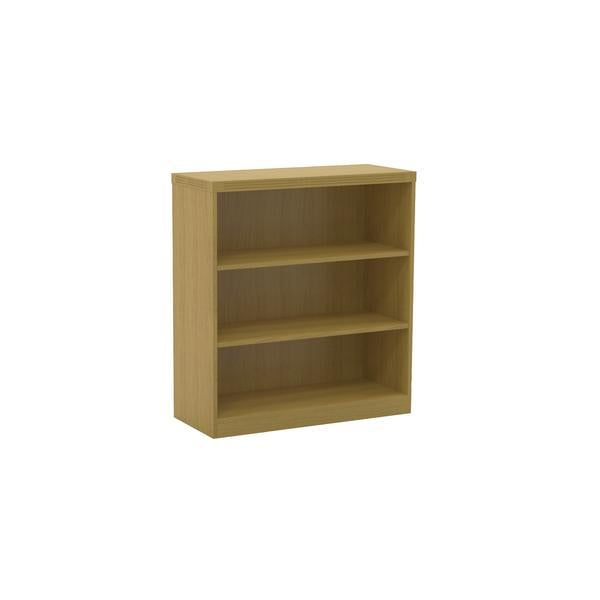 Maple 3-Shelf Bookcase with Vertical Wire Management
