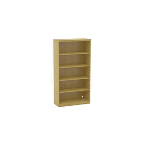 5-Shelf Bookcase in Maple with Vertical Wire Management