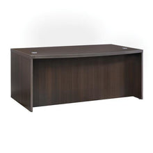 Load image into Gallery viewer, Modern Bow Front Desk with Bow Front in Mocha