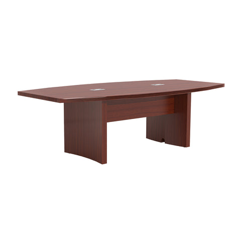 Modern Conference Table with Power Modules in Cherry (width of 8', 10', 12', or 18')