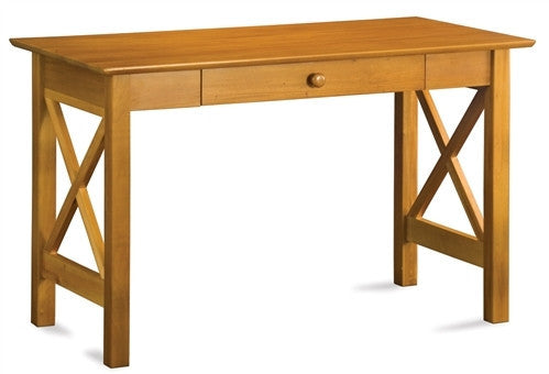 Lexington Solid Wood Desk with Drawer in Caramel Latte