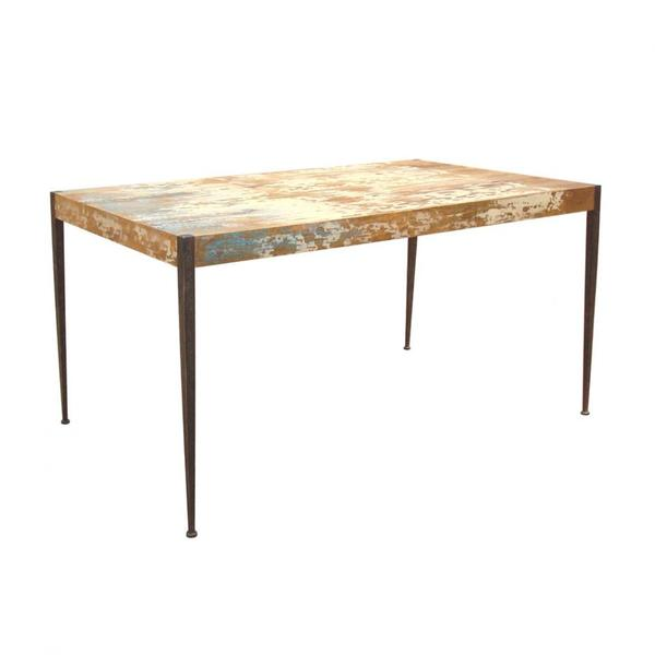 "Remarkable 59"" Solid Wood Modern Desk with Iron Legs"