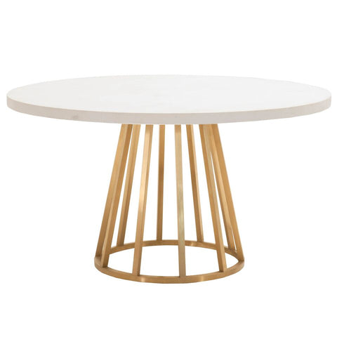 "54"" Classic White Concrete Round Meeting Table"