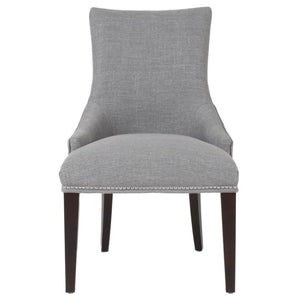 Elegant Light Grey Guest or Conference Chairs (Set of 2)