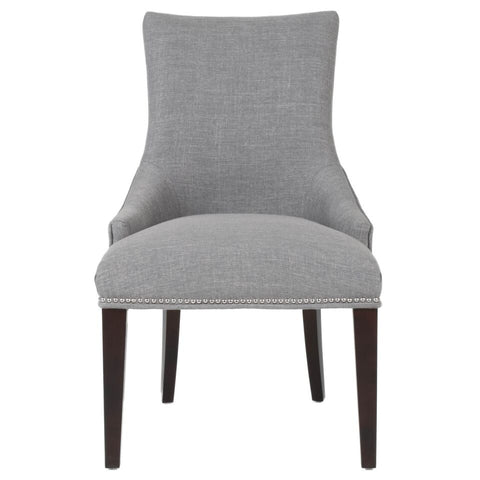 Comfortable Padded Smoke Grey Guest or Conference Chair