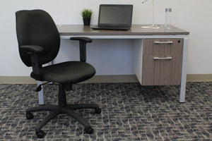 Padded Everyday Black Mid Back Office Chair
