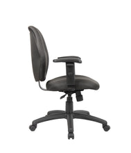 Load image into Gallery viewer, Padded Everyday Black Mid Back Office Chair
