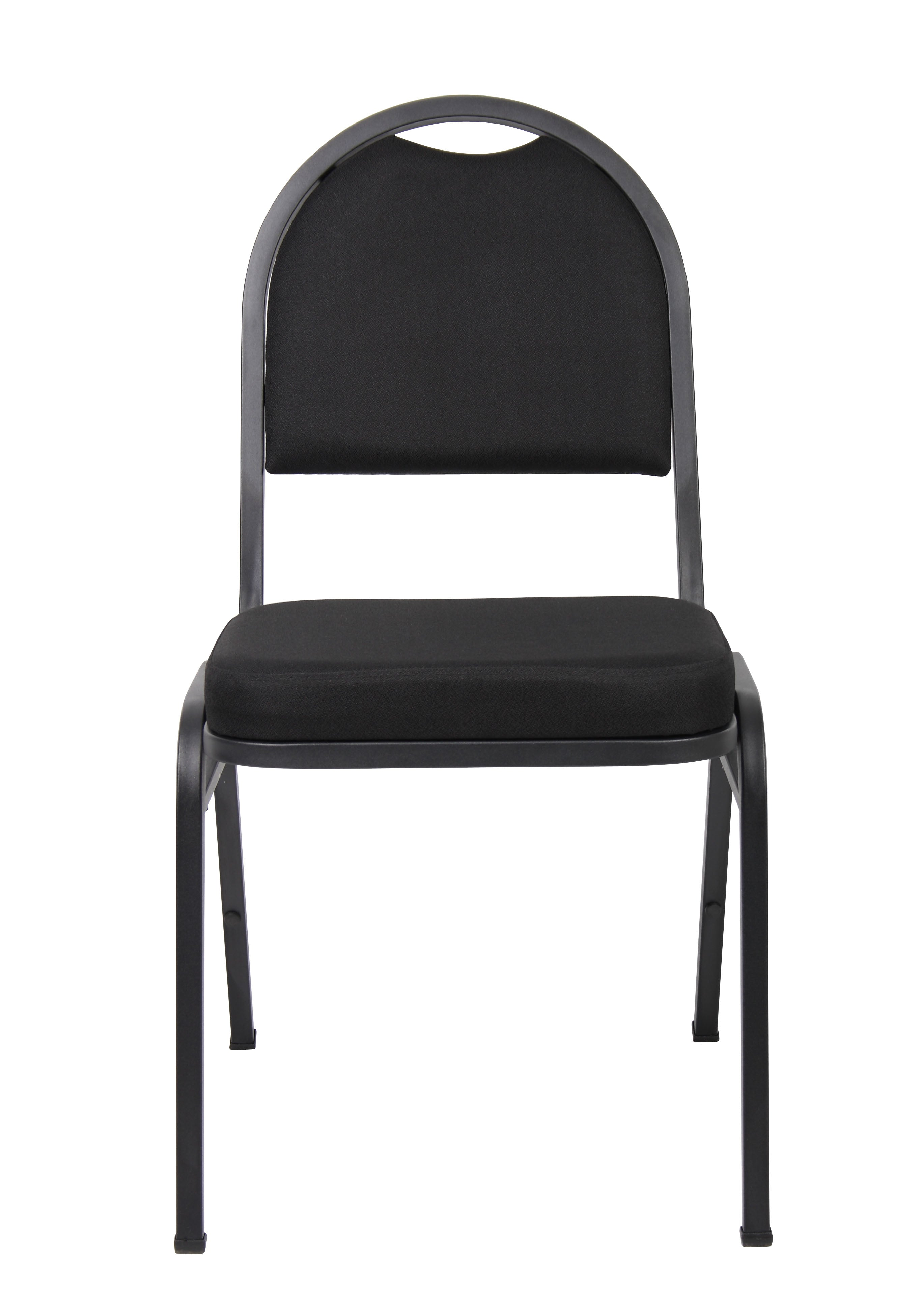 Modern Black Fabric & Steel Guest or Conference Chair (Set of 4)