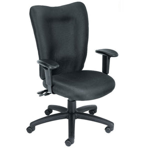 Double Ridge Padded Everyday Black High Back Office Chair