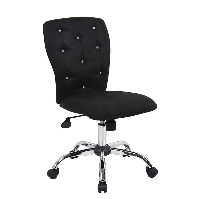 Stunning Black Microfiber Office Chair