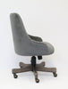 Comfortable Grey Velvet Guest Chair w/ Sculpted Back