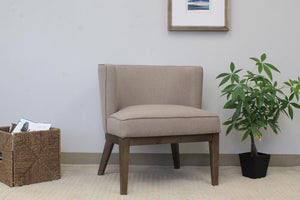 Stylish Extra Large Beige Linen Office Guest Seat