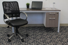 Load image into Gallery viewer, Rolling Office Chair in Black Mesh & Pewter