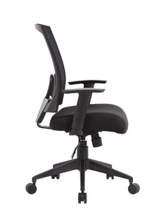 Cushioned Mesh Black Office Chair Built for Comfort