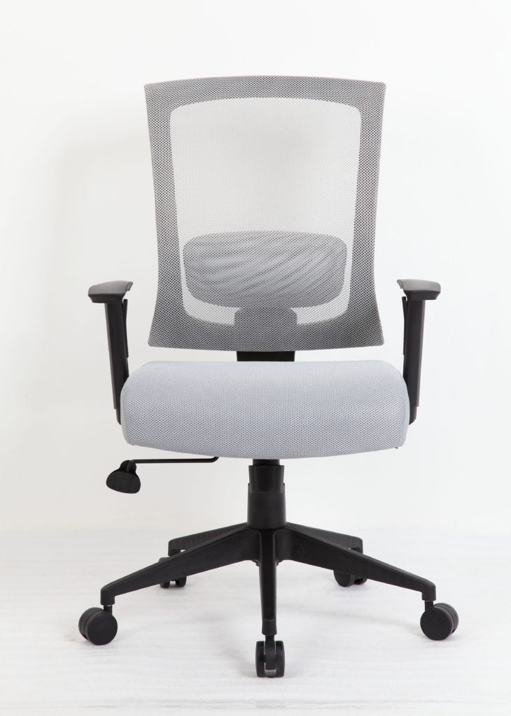 Cushioned Mesh Grey Office Chair Built for Comfort