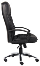 Load image into Gallery viewer, Durable Office Chair w/ Black Faux Leather & Chrome Base
