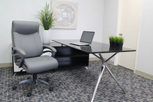 Load image into Gallery viewer, Robust Grey Office Chair of Leather & Nylon