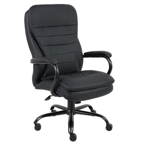 Big & Tall Black Padded Office Chair