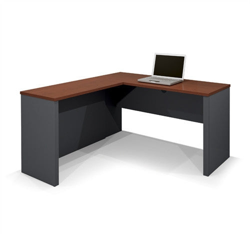 Prestige Collection Bordeaux & Graphite Corner Desk