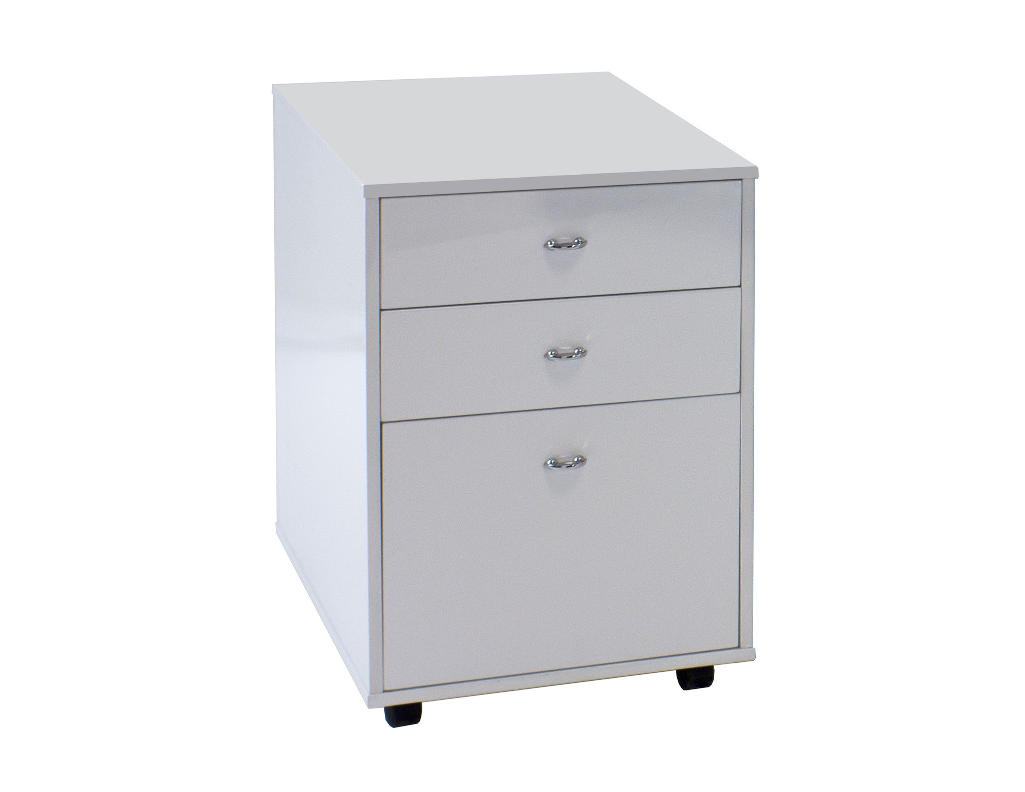 modern curved white lacquer executive desk with two mobile files. modern curved white lacquer executive desk with two mobile files