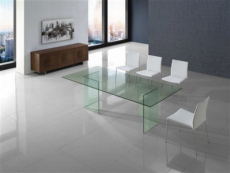 "Gorgeous 83"" Glass Executive Desk or Conference Table"