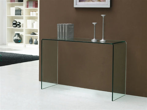 "40"" Glass Console Desk in Modern Style"