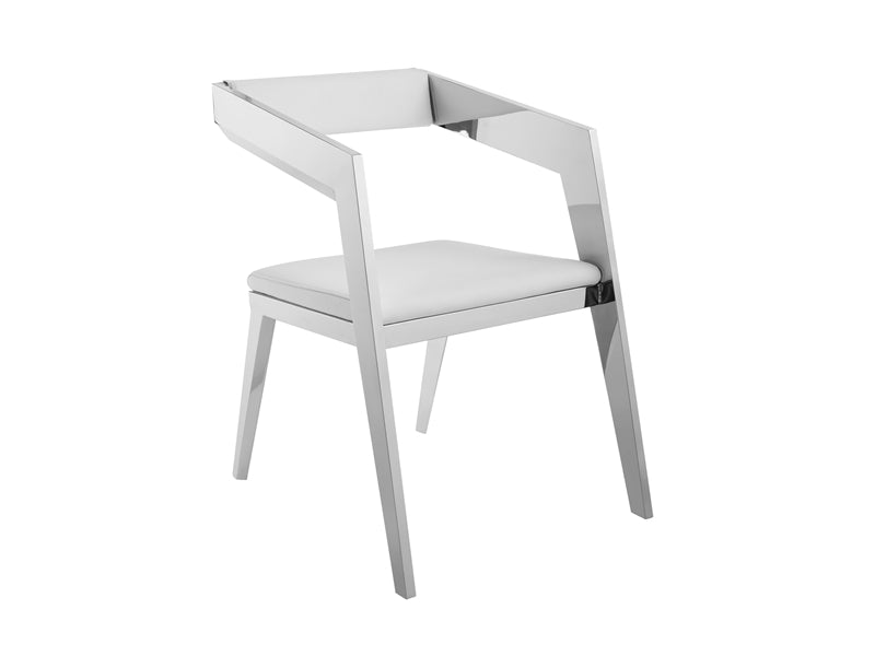 Charming White Eco-Leather Guest or Conference Chair