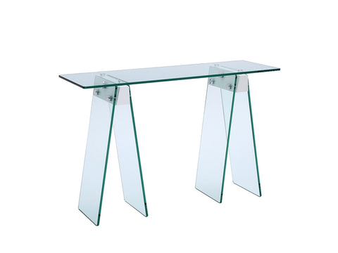 "Sophisticated 48"" Glass Console Desk"