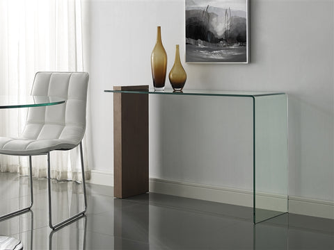 "47"" Glass Console Desk in Modern Style"
