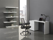 "Load image into Gallery viewer, 51"" White High Gloss Office Desk with Extendable Arm"