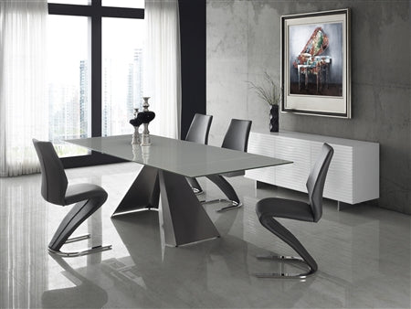 Sleek Gray Eco-Leather Guest or Conference Chair in S-Style (Set of 2)