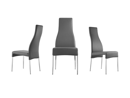 Gorgeous Guest or Conference Chair in Gray Eco-Leather (Set of 2)