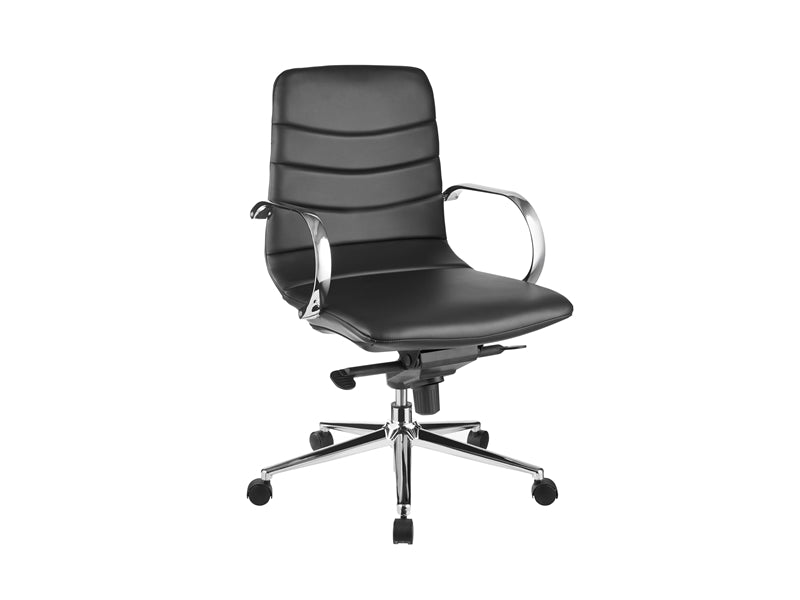 Black Eco-Leather Office Chair w/ Arms