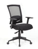 Modern Office Chair with Black Mesh Back & Height Adjustable Armrests