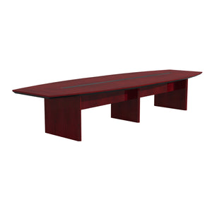 Quality 14' Conference Table in Cherry with Beveled Edge