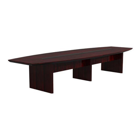 Quality 14' Conference Table in Mahogany with Beveled Edge