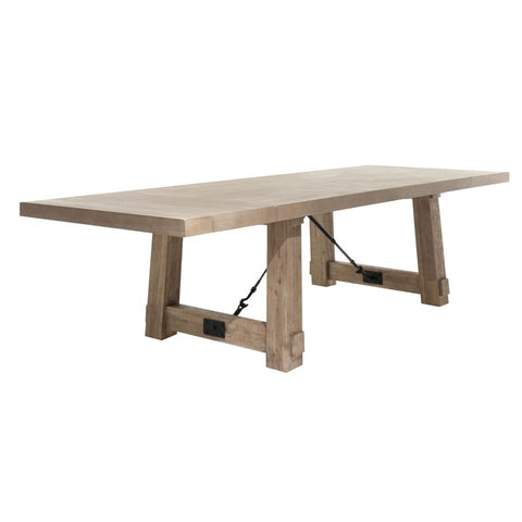 "85"" - 117"" Stone Washed Acacia Extension Conference Table"