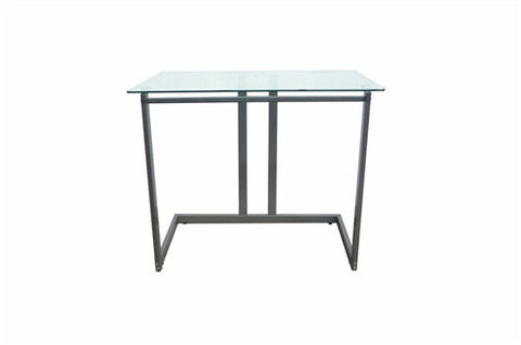 "Contemporary 35"" Desk with Glass Top"