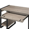 "60"" Modern Driftwood Desk with Shelves & Built-In Plugs"