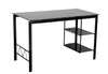 "45"" Black Glass Compact Modern Desk"