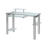 Chrome & Clear Glass Modern Executive Office Desk
