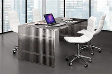 "Load image into Gallery viewer, 73"" Modern Stainless Steel Office Desk"
