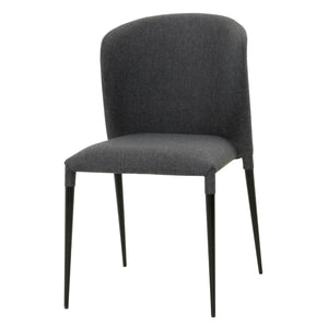 Simple Lightweight Charcoal Guest or Conference Chairs (Set of 4)