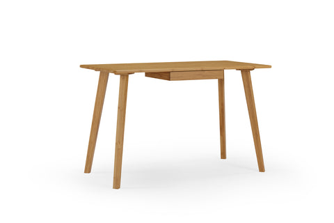 "Modern 47"" Solid Bamboo Desk with Drawer in Carmelized Finish"