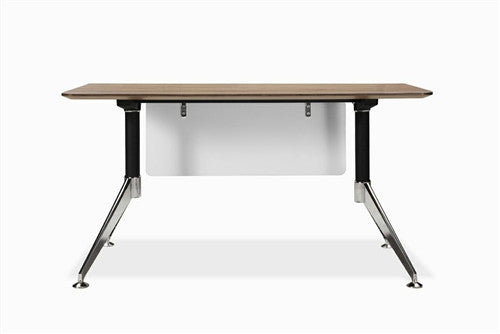 "55"" Contemporary Office Desk in Walnut from Ergo Office"
