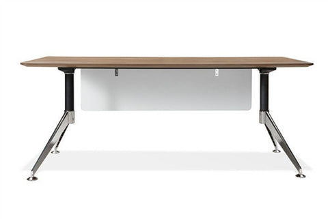"71"" Contemporary Workstation in Walnut with Optional Lateral File"