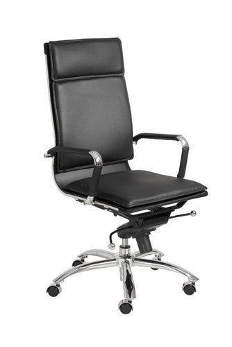 Black & Chrome High Back Modern Office Chair